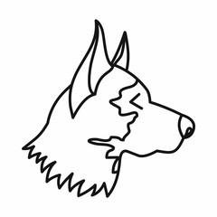 Shepherd dog icon, outline style