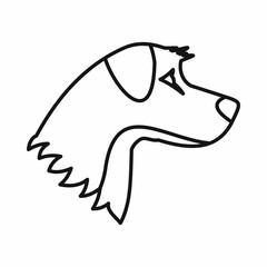Dog icon, outline style