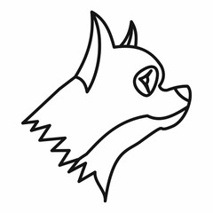 Pinscher dog icon, outline style