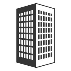 black tall building with white windows,vector graphic