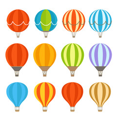 Different colorful air balloons