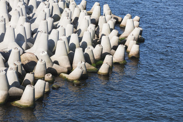 Concrete blocks as a part of breakwater