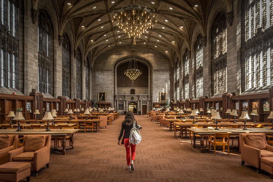 The Harper Library Reading Room, University of Chicago, Chicago