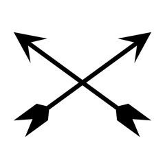 black crossed arrows