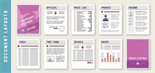 Document Report Layout Templates Set