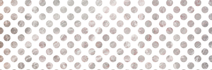 banner with marble polka dots