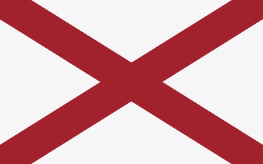 Alabama flag official proportions correct, vector illustration