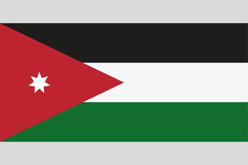 Jordan flag official right proportions, star vector illustration