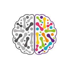 Brain icon. Human head design. vector graphic