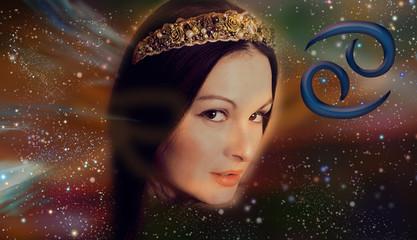 Zodiac cancer woman in astrology