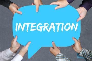 Gruppe Menschen halten Integration Ausländer Flüchtlinge Asyla