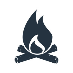 campfire icon - travel 100 set