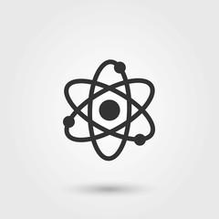 Atom. AtomVector. Flat Icon. Atom Icon Picture.