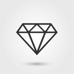 Diamond.Diamond Icon Vector. Flat Icon. Diamond Icon Picture.