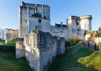 Medieval walls of Loches, France