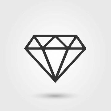 Diamond.Diamond Icon Vector. Flat Icon. Diamond Icon Picture.