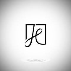 Letter H Logo design vector template. Font Lines Logotype