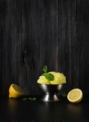 Wall Mural - Lemon ice cream in cup