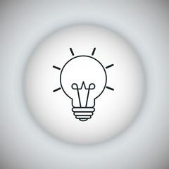 Light bulb icon. Energy icon. Vector graphic