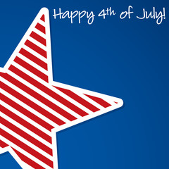 Happy 4th of July star card in vector format.