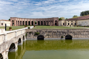 Palazzo Te in Mantua, Italy, constructed 1524–34 for Federico II Gonzaga, Marquess of Mantua.