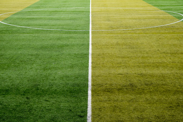 line and soccer field