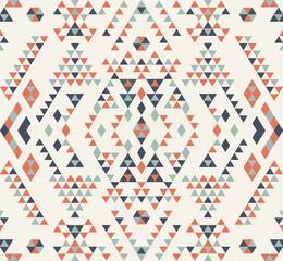 Abstract geometric pattern. Ethnic pattern design. Navajo geometric print. Rustic decorative ornament. Cloth design, wallpaper, wrapping. Vector illustration. Native American pattern.
