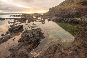 The rock pool of Cape Schanck of Mornington peninsula, Melbourne, Australia.