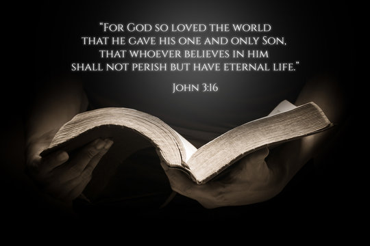 Vintage Bible Verse Background with the Bible
