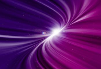 Purple glitter sparkle defocused radial rays twinkled lights bokeh beautiful abstract background.