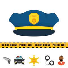 Police design. illuistration