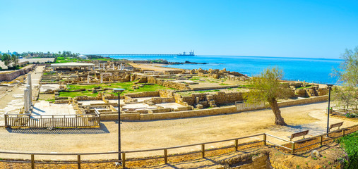 Panorama of the Caesaria archaeological site