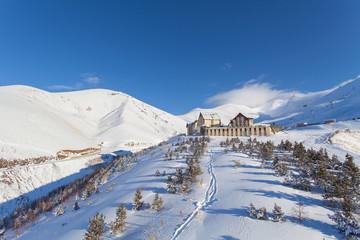 Palandoken Mountain ski Resort nearby Erzurum, Turkey