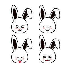 Kawaii icon. Rabbit Cartoon design. Vector graphic