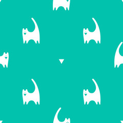 Vector seamless pattern with cats