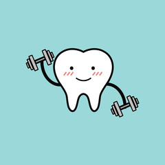 Vector of Strong and Healthy Tooth