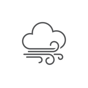 wind and clouds weather icon