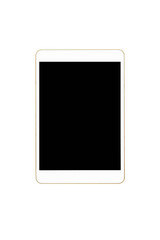 Close up of white Tablet Computer isolated on white background