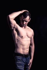 fitness man possing