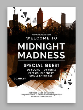 Music Party Template, Banner or Flyer design.