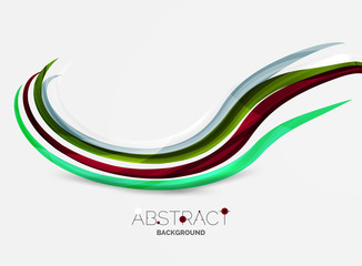 Geometric abstract background, swirl colorful lines