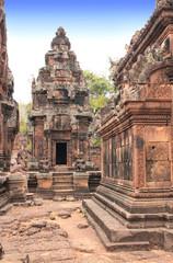 Site of Banteay Srei Temple in Angkor Wat complex, Siem Reap, Ca
