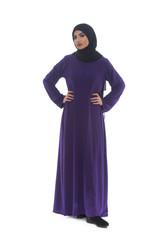 Arab Saudi Woman Full Body Posing Confident