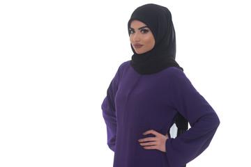 Arab Saudi Woman Half Body Posing Confident