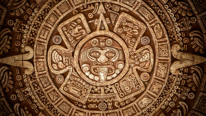 Pagan ornament of a tribe Maya texture