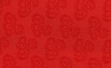 red fabric pattern