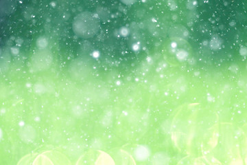 Green background bokeh blurred glare rain