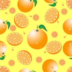 seamless abstract of orange on a yellow background
