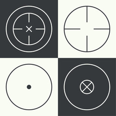different types of crosshair.