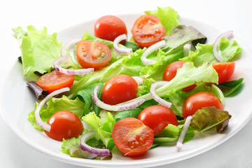 Healthy salad with tomatoes cherry